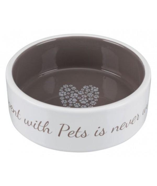Trixie miska ceramiczna Pet's Home brązowa 300 ml