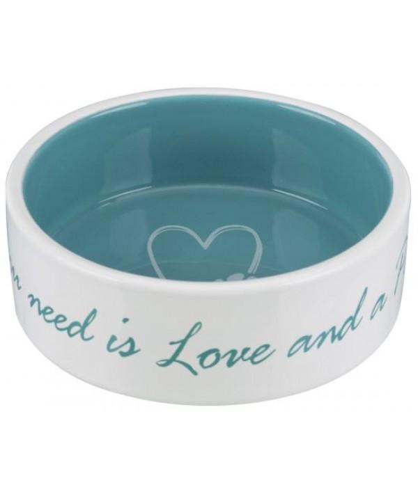 Trixie miska ceramiczna Pet's Home niebieska 300 ml
