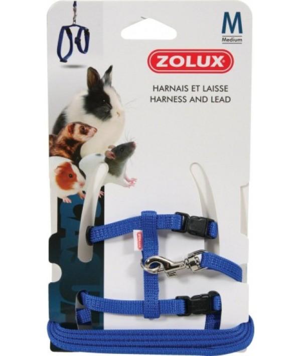 Zolux szelki ze smyczą M niebieskie