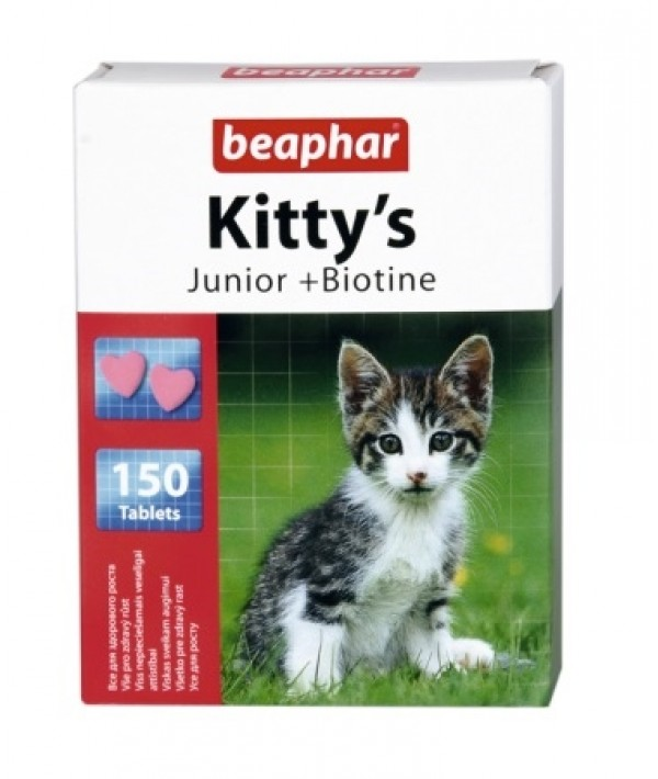 Beaphar Kitty's Junior - przysmak witaminowy dla kociąt 150 tabletek
