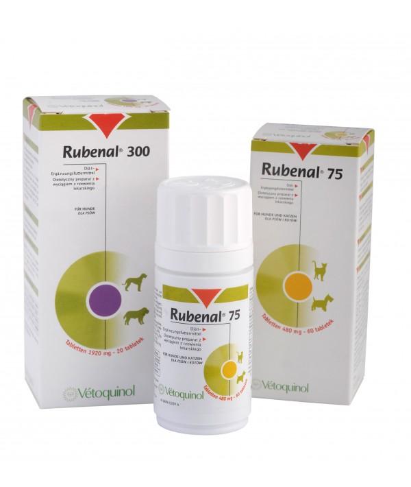Vetoquinol Rubenal 75 - preparat wspomagających pracę nerek 60 tabletek