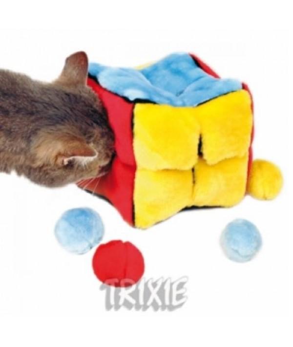 Trixie kostka pluszowa z piłkami